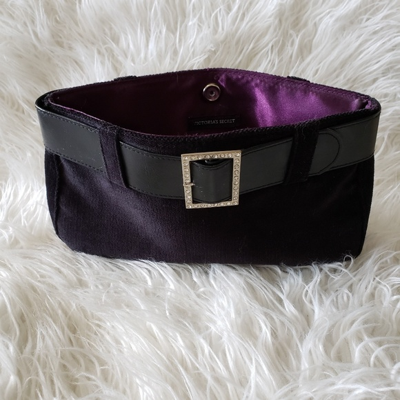 Victoria's Secret Handbags - Victoria Secret black velvet buckle purse